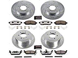 Power Stop Z36 Extreme Truck and Tow 6-Lug Brake Rotor and Pad Kit; Front and Rear (2009 F-150)