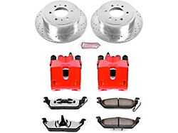 Power Stop Z36 Extreme Truck and Tow 6-Lug Brake Rotor, Pad and Caliper Kit; Rear (04-11 2WD/4WD F-150)