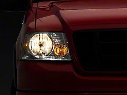 Axial OEM Style Replacement Headlights; Chrome Housing; Clear Lens (04-08 F-150)