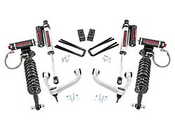 Rough Country 3-Inch Bolt-On Arm Suspension Lift Kit with Adjustable Vertex Coil-Overs and Vertex Reservoir Shocks (14-20 4WD F-150 SuperCab, SuperCrew, Excluding Raptor)
