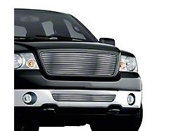 Stainless Steel Billet Upper and Lower Grille Insert; Chrome (06-08 F-150, Excluding FX2)