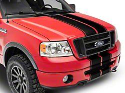 SEC10 Full Length Stripes; Matte Black (04-08 F-150)