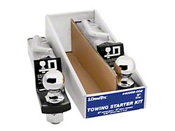2-Inch Receiver Hitch Towing Starter Kit with 2-5/16-Inch Ball; 2-Inch Drop (Universal; Some Adaptation May Be Required)
