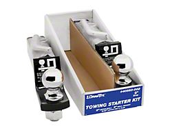 2-Inch Receiver Hitch Towing Starter Kit with 2-Inch Ball; 2-Inch Drop (Universal; Some Adaptation May Be Required)