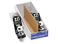 2-Inch Receiver Hitch Towing Starter Kit with 2-Inch Ball; 4-Inch Drop (Universal; Some Adaptation May Be Required)