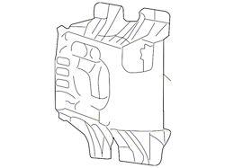 Ford Fog Light Bracket; Passenger Side (04-05 F-150)