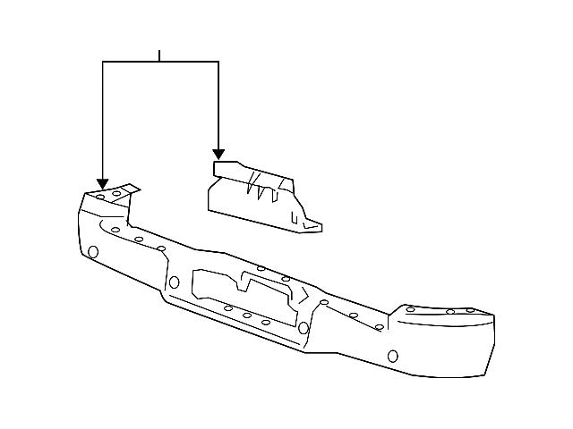 Ford Rear Bumper; Pre-Drilled for Backup Sensors; Chrome (04-09 F-150 Flareside)