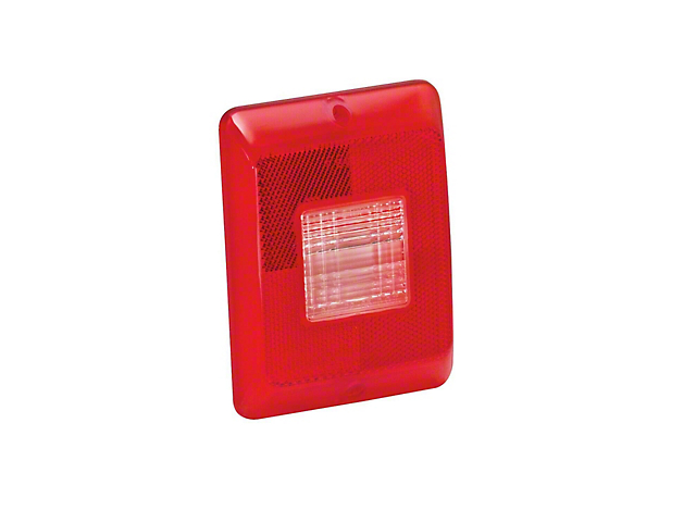 Replacement Vertical Tail Light Lens with Clear Backup for 84, 85, and 86