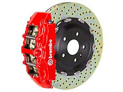 Brembo GT Series 8-Piston Front Big Brake Kit with 15-Inch 2-Piece Cross Drilled Rotors; Red Calipers (00-03 2WD F-150)