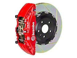 Brembo GT Series 6-Piston Front Big Brake Kit with 15-Inch 2-Piece Type 1 Slotted Rotors; Red Calipers (15-20 F-150, Excluding Raptor)