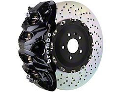 Brembo GT Series 8-Piston Front Big Brake Kit with 16.20-Inch 2-Piece Cross Drilled Rotors; Black Calipers (15-20 F-150, Excluding Raptor)