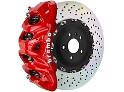 Brembo GT Series 8-Piston Front Big Brake Kit with 16.20-Inch 2-Piece Cross Drilled Rotors; Red Calipers (15-20 F-150, Excluding Raptor)