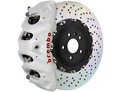 Brembo GT Series 8-Piston Front Big Brake Kit with 16.20-Inch 2-Piece Cross Drilled Rotors; White Calipers (15-20 F-150, Excluding Raptor)