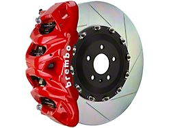 Brembo GT Series 8-Piston Front Big Brake Kit with 16.20-Inch 2-Piece Type 1 Slotted Rotors; Red Calipers (15-20 F-150, Excluding Raptor)