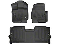 Husky WeatherBeater Front and Second Seat Floor Liners; Black (21-22 F-150 SuperCrew)