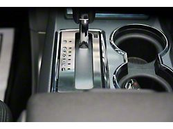 Shifter Plate Trim; Brushed (10-14 F-150)