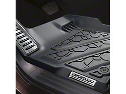 Air Design Soft Touch Front Floor Liners; Black (15-22 F-150 Regular Cab, SuperCab)
