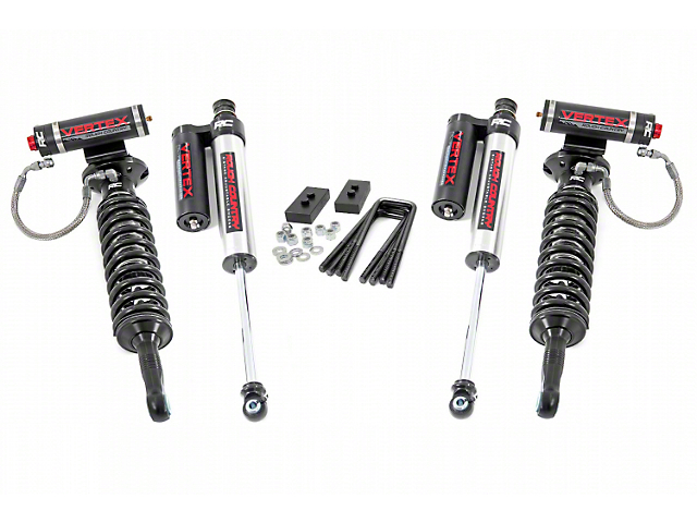 Rough Country 2-Inch Front Leveling Lift Kit with Adjustable Vertex Coil-Overs and Vertex Shocks (09-13 F-150, Excluding Raptor)