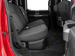 Underseat Storage with Lockable Lid; Black (17-22 F-250/F-350 Super Duty SuperCrew)