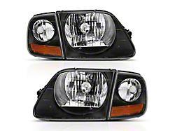 G2 Crystal Headlights; Black Housing; Clear Lens (97-03 F-150)