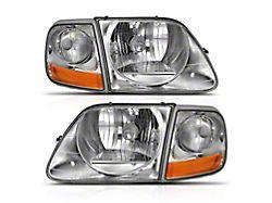 G2 Crystal Headlights; Chrome Housing; Clear Lens (97-03 F-150)