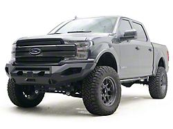 Fab Fours Matrix Winch Front Bumper with No Guard; Matte Black (18-20 F-150, Excluding Raptor)