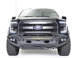 Fab Fours Matrix Winch Front Bumper with Pre-Runner Guard; Matte Black (15-17 F-150, Excluding Raptor)