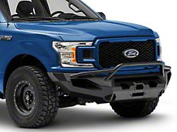 Fab Fours Matrix Winch Front Bumper with Pre-Runner Guard; Matte Black (18-20 F-150, Excluding Raptor)
