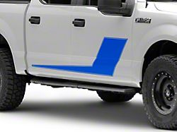 SEC10 Side Stripes with Pinstripe; Blue (97-22 F-150)