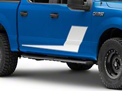 SEC10 Side Stripes with Pinstripe; White (97-22 F-150)
