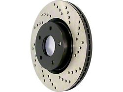 StopTech Sport Cross-Drilled Brake 5-Lug Rotor; Front Passenger Side (97-Early 00 2WD F-150 w/ Rear Wheel ABS, Excluding Lightning)