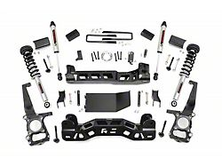 Rough Country 4-Inch Suspension Lift Kit with Lifted Struts and V2 Monotube Shocks (2014 4WD F-150, Excluding Raptor)