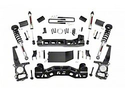 Rough Country 4-Inch Suspension Lift Kit with Lifted Struts and V2 Monotube Shocks (11-13 4WD F-150, Excluding Raptor)