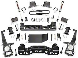Rough Country 6-Inch Suspension Lift Kit with V2 Monotube Shocks (11-14 4WD F-150, Excluding Raptor)