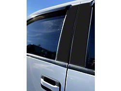 Door Pillar Accent Trim; Gloss Black (09-14 F-150 SuperCab, SuperCrew)