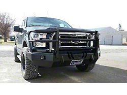 Throttle Down Kustoms Standard Front Bumper with Grille Guard; Bare Metal (15-17 F-150, Excluding Raptor)