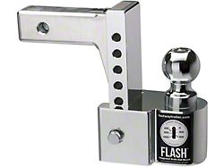 FLASH ISBM Series 2-Inch Receiver Hitch Adjustable Ball Mount with 2-Inch and 2-5/16-Inch Chrome Ball; 6-Inch Drop (Universal; Some Adaptation May Be Required)