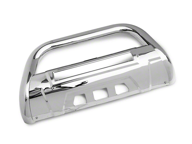 Barricade 3.5 in. Bull Bar w/ Skid Plate & 20 in. Dual Row LED Light Bar - Stainless Steel (05-15 Tacoma)