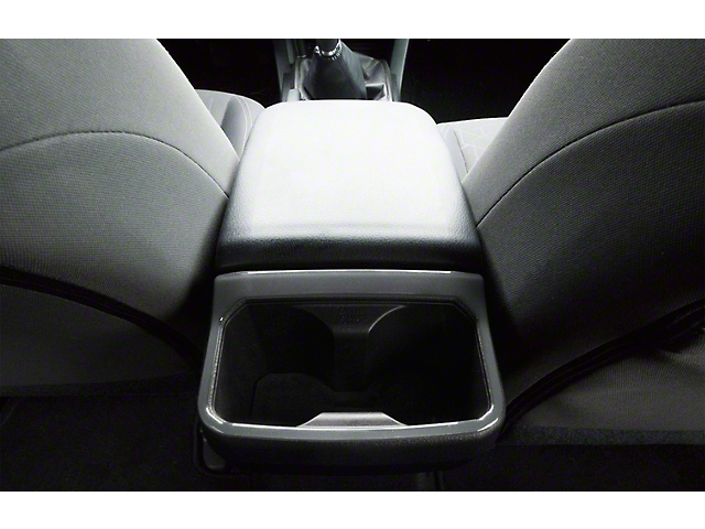 Rear Cup Holder Accent Trim; Charcoal Silver (16-21 Tacoma)