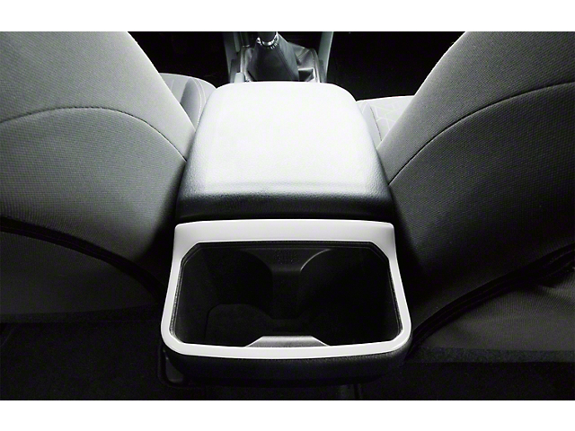 Rear Cup Holder Accent Trim; Gloss White (16-21 Tacoma)