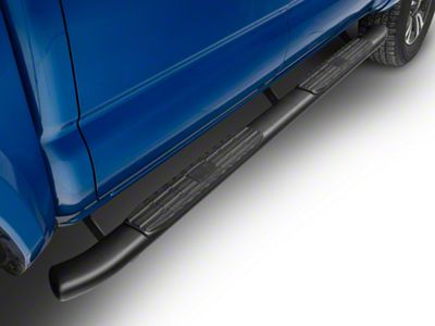 Duratrek 4 Side Step Bars in Black Oval Bent End Fits Toyota Tacoma Access Cab 2005-2020