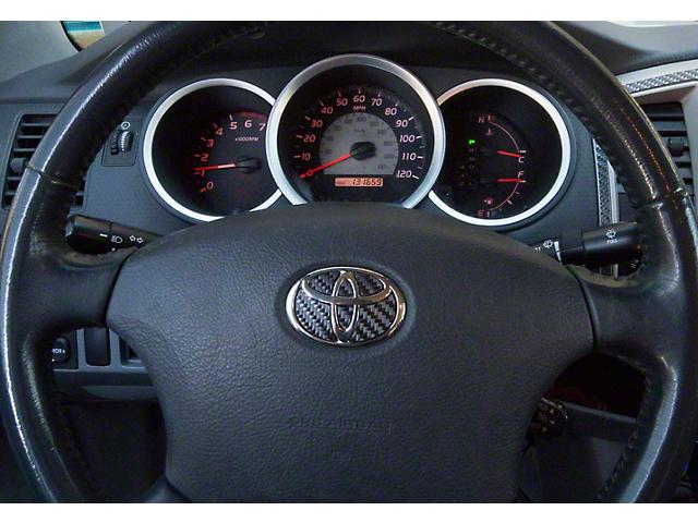 Steering Wheel Emblem Inserts; Raw Carbon Fiber (05-15 Tacoma)