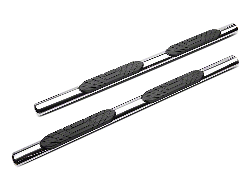Duratrek 4 in. Oval Straight End Side Step Bars - Stainless Steel (05-20 Tacoma Access Cab)