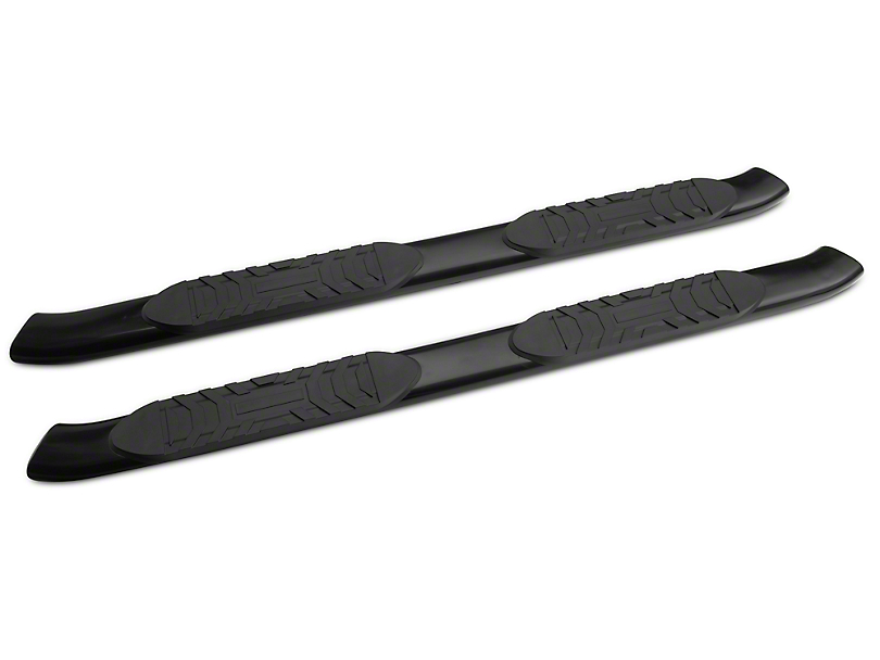 RedRock 4x4 5-Inch Oval Bent End Side Step Bars; Black (05-20 Tacoma Access Cab)