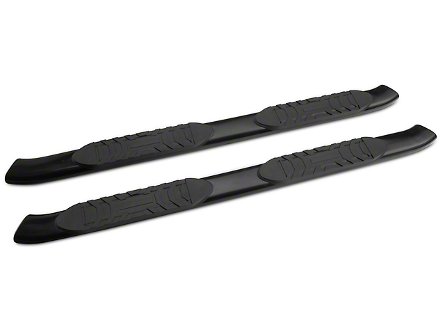 RedRock 4x4 5 in. Oval Straight End Side Step Bars - Black (05-20 Tacoma Access Cab)