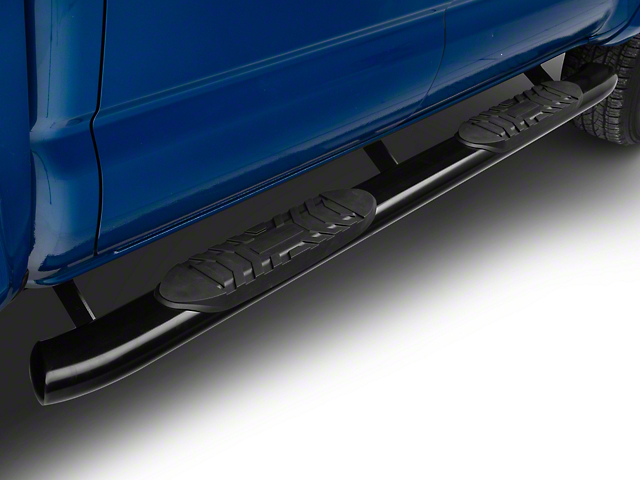 Duratrek 5 in. Oval Bent End Side Step Bars - Black (05-19 Tacoma Double Cab)