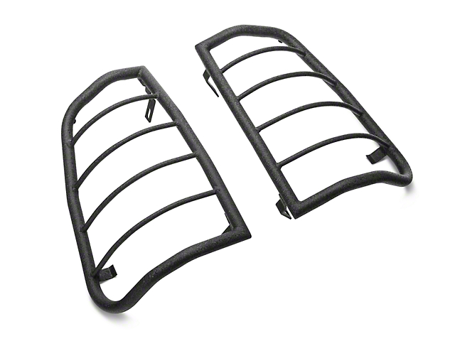 RedRock 4x4 Tail Light Guards - Textured Black (05-15 Tacoma)