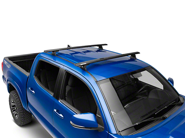 Rhino-Rack Vortex RLT600 Trackmount 2-Bar Roof Rack - Black (05-19 Tacoma Double Cab)