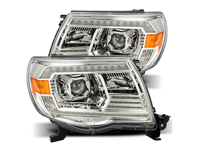 LUXX-Series LED Projector Headlights; Chrome Housing; Clear Lens (05-11 Tacoma w/o Factory DRL)