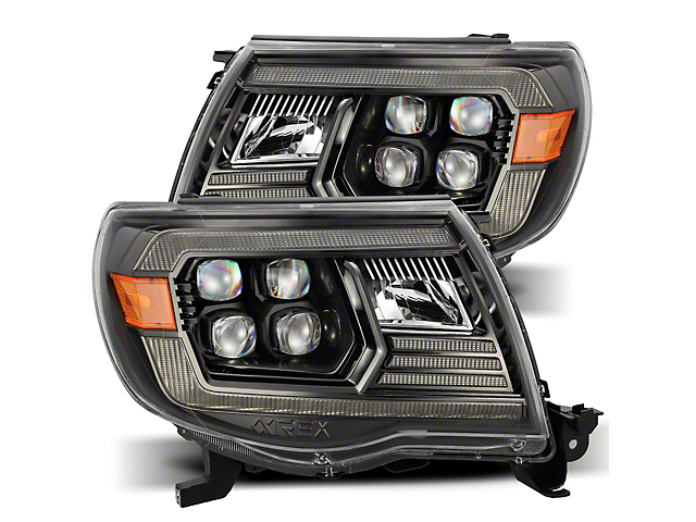 NOVA-Series LED Projector Headlights; Black Housing; Clear Lens (05-11 Tacoma w/o Factory DRL)